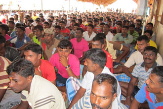 HIV-and-AIDS-Awareness-session-at-the-LTTE-Refugee-camp-in-Mannar